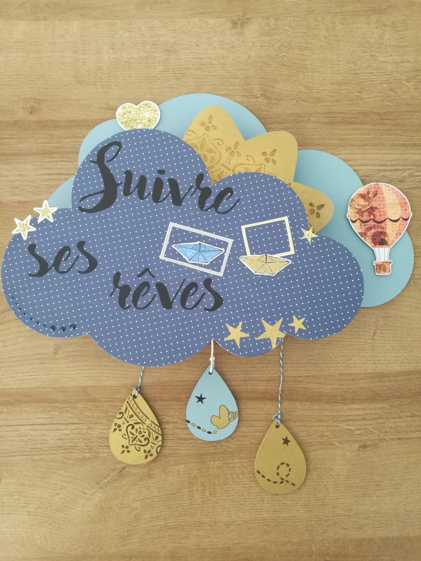 Diy mobile musical nuage pour chambre de bébé | Peinture à ...