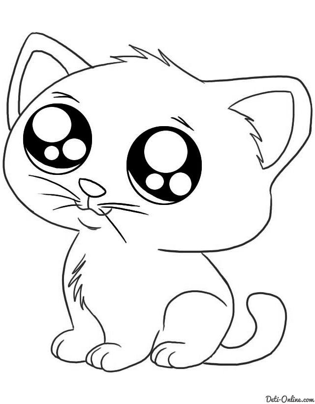 Dibujos De Gatos Jugando Para Colorear 6 Dibujos Kawaii De