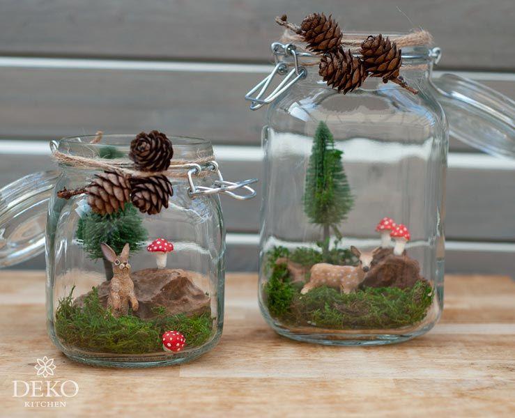 DIY: hübsche Herbstdeko mit selbstgemachten Fliegenpilzen – Deko-Kitchen #weihnachtsdekoglas