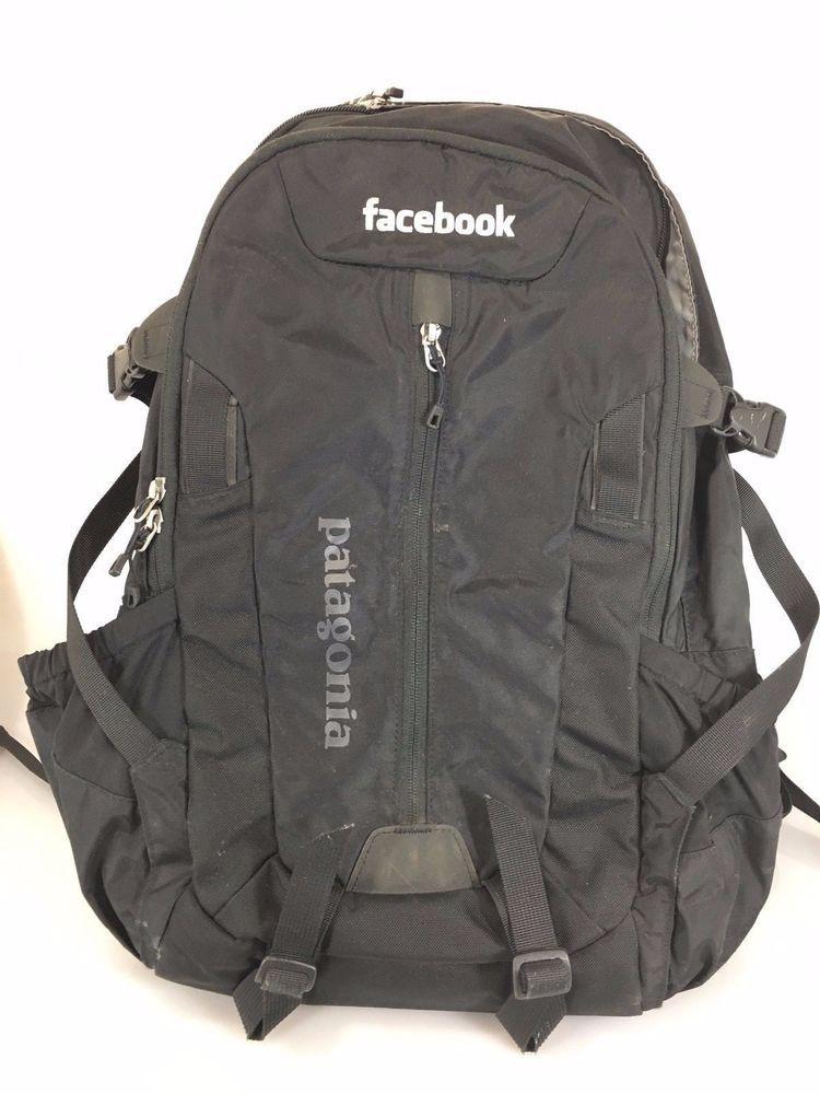 Patagonia Black Backpack 12 X 19 X 7 Co Branded Facebook
