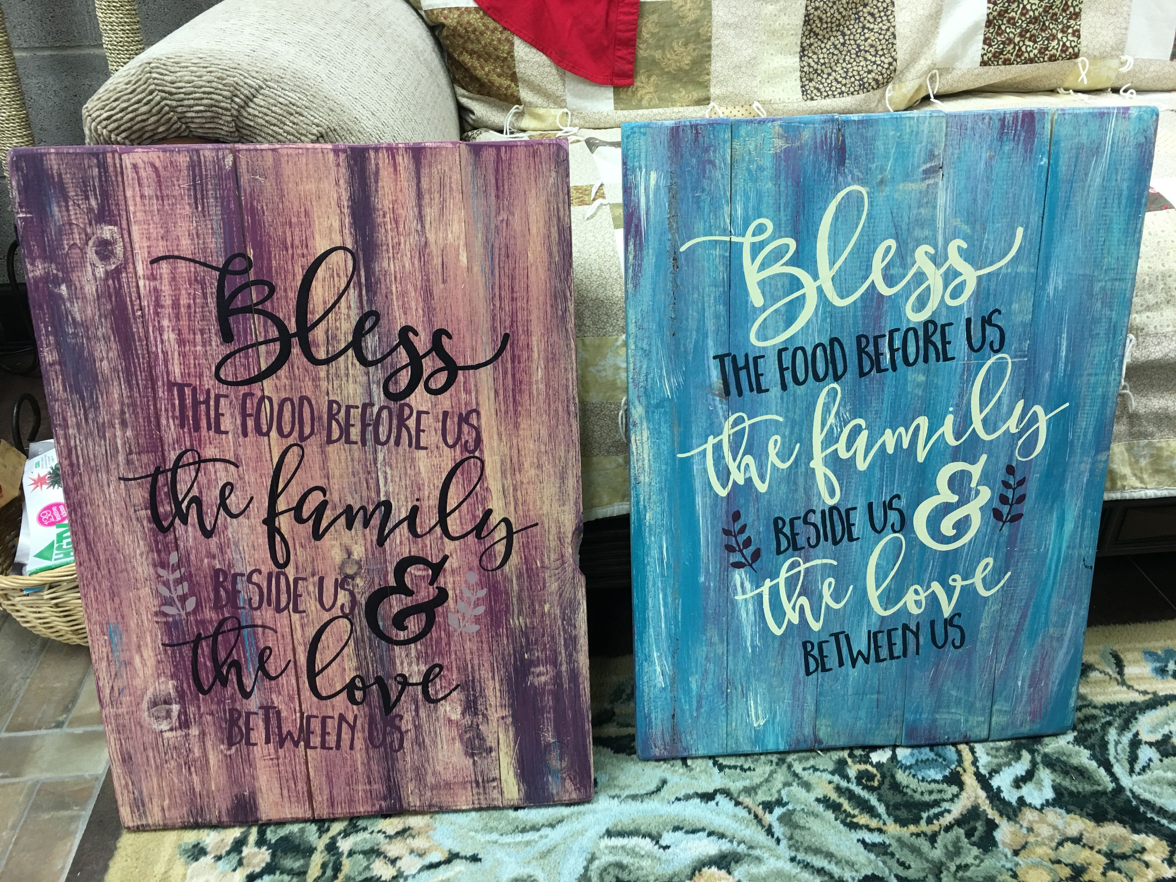 Bless Board Art Pallet Painting Ideas Love Quotes Family