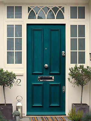 teal front door paintdulux - front door colours- home decor