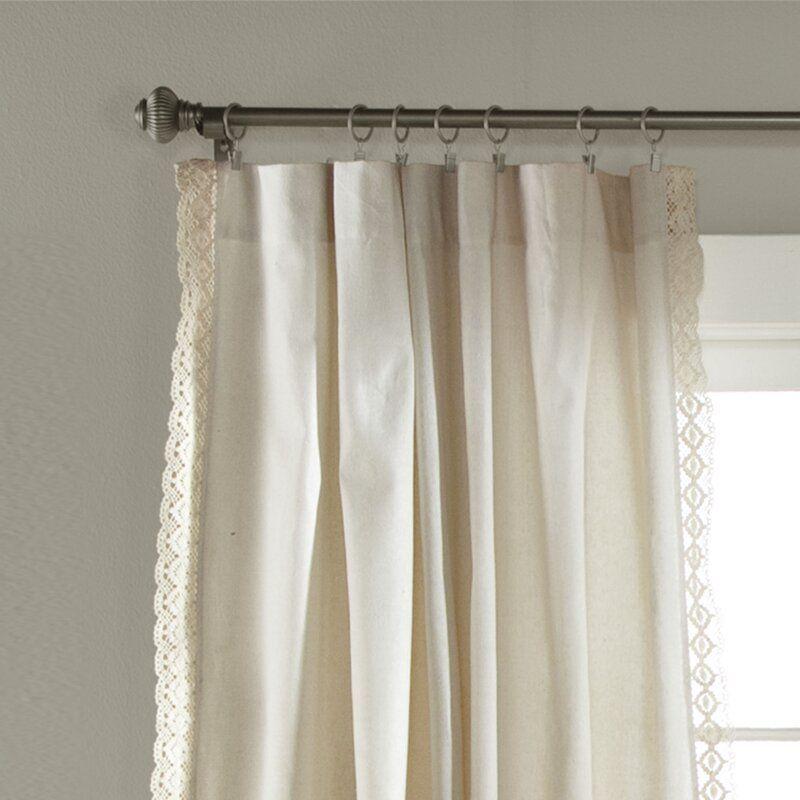Laurel Foundry Modern Farmhouse Rosanne Solid Semi Sheer Rod Pocket Curtain Panels Reviews Way In 2020 Rod Pocket Curtain Panels Panel Curtains Rod Pocket Curtains