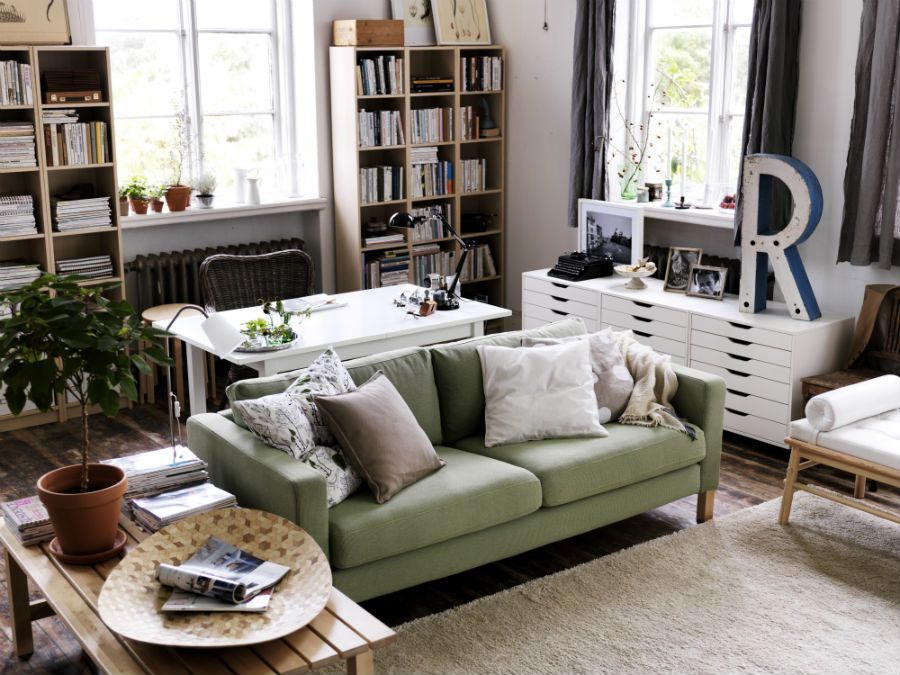 Ikea Us Furniture And Home Furnishings Living Room Office Combo Living Room Office Desk In Living Room