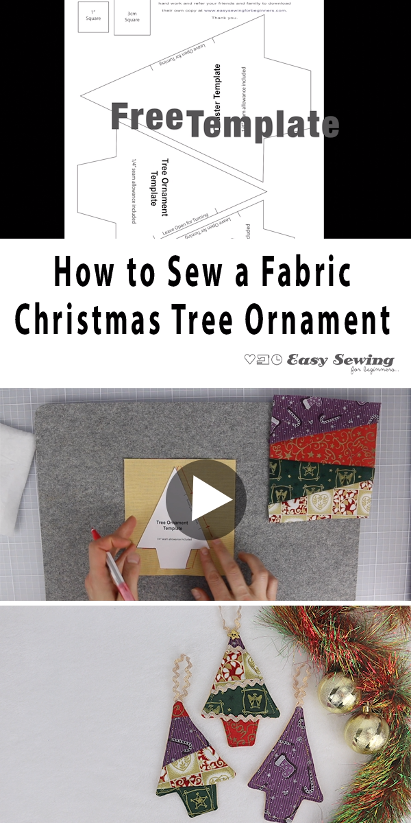 Photo of Easy Fabric Christmas Tree Ornaments to Sew