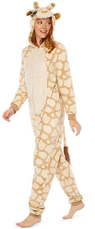 PEACE LOVE AND DREAMS Peace Love And Dreams Womens Juniors Plush One Piece  Pajama Long Sleeve 87691acdb