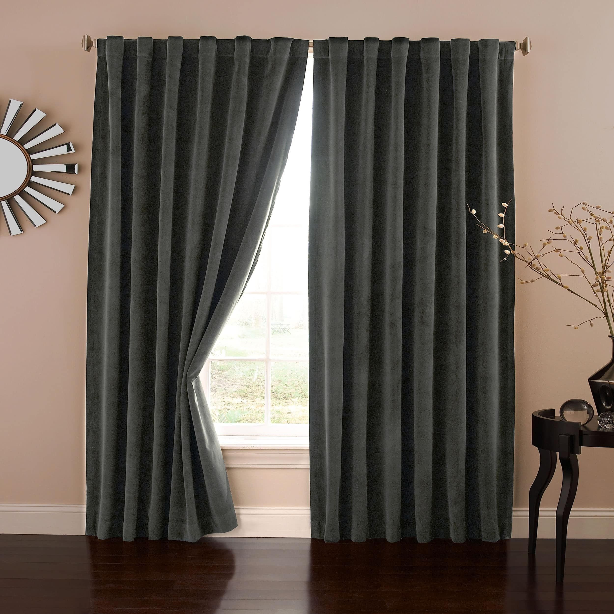 heavy ready blackout made w d curtains crushed stylish champagne interior stunning velvet lined eyelet