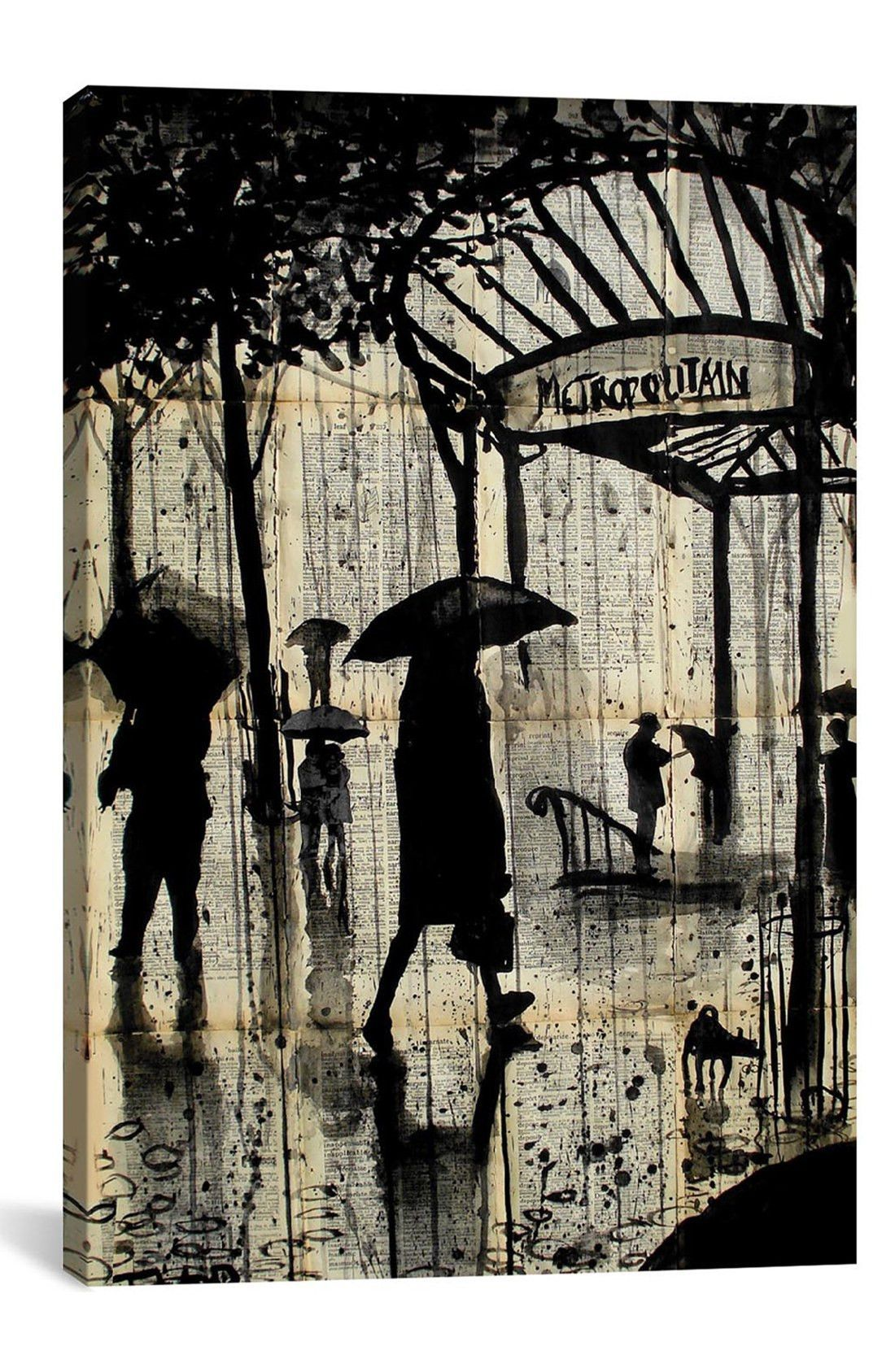 - Add brilliant color and exceptional detail to your living space with giclée canvas artwork that offers the texture, look and feel of fine-art paintings. Designed by artist Loui Jover, the piece is h