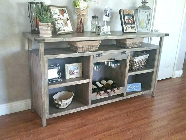 Image result for dining room buffet with wine rack
