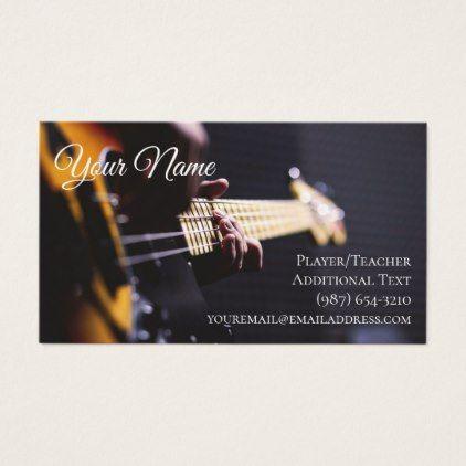 Guitarist Business Card Teacher Songwriter Band Zazzle Com Music Business Cards Musician Business Card Teacher Cards