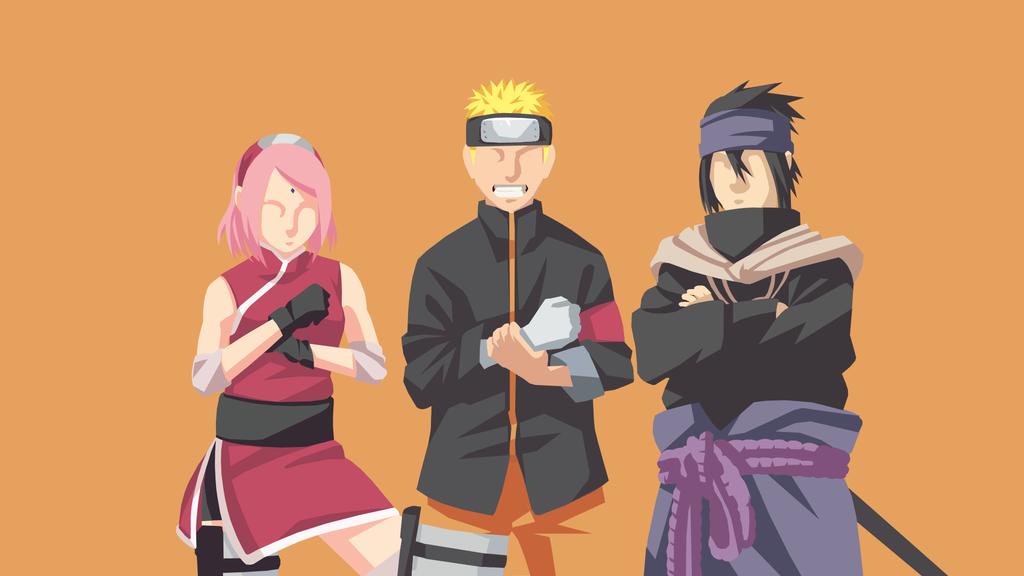 Naruto Team 7 Minimalist Naruto Team 7 Naruto Teams Naruto
