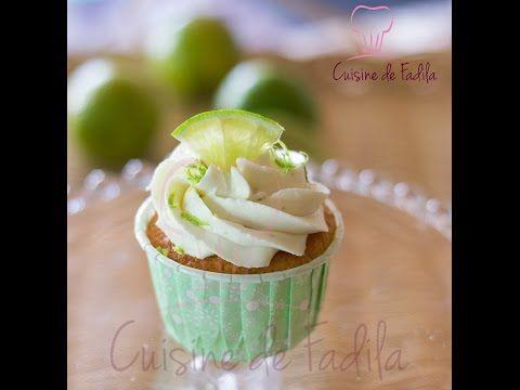 Cupcakes au citron vert et ganache montée au citron vert  - cuisine de Fadila