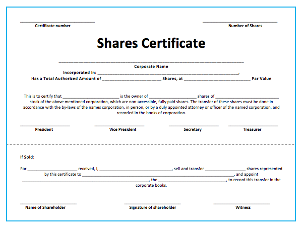 10 Share Certificate Templates Word Excel Pdf