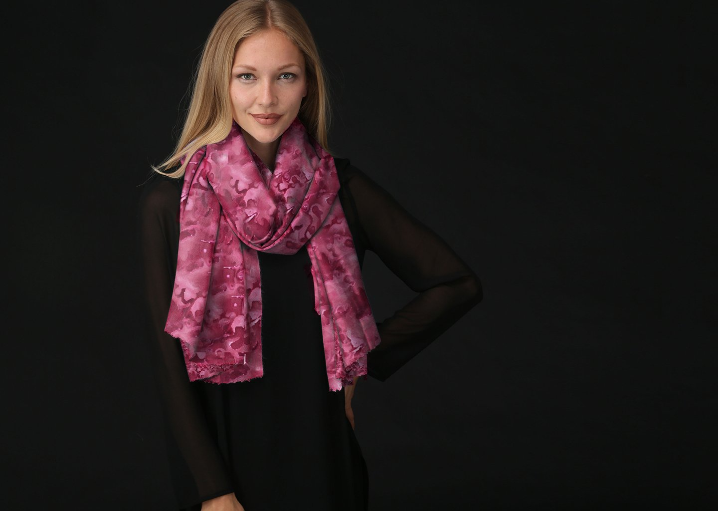 Oversized Merino Wool Scarf - Lake by VIDA VIDA S2dPy9Oe