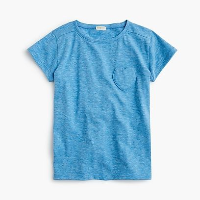 f1f8668c963 girls Girls  T-shirt with heart-shaped pocket