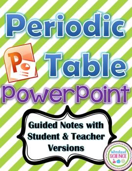 Periodic table powerpoint guided notes teacher student versions periodic table powerpoint guided notes teacher student versions urtaz Images