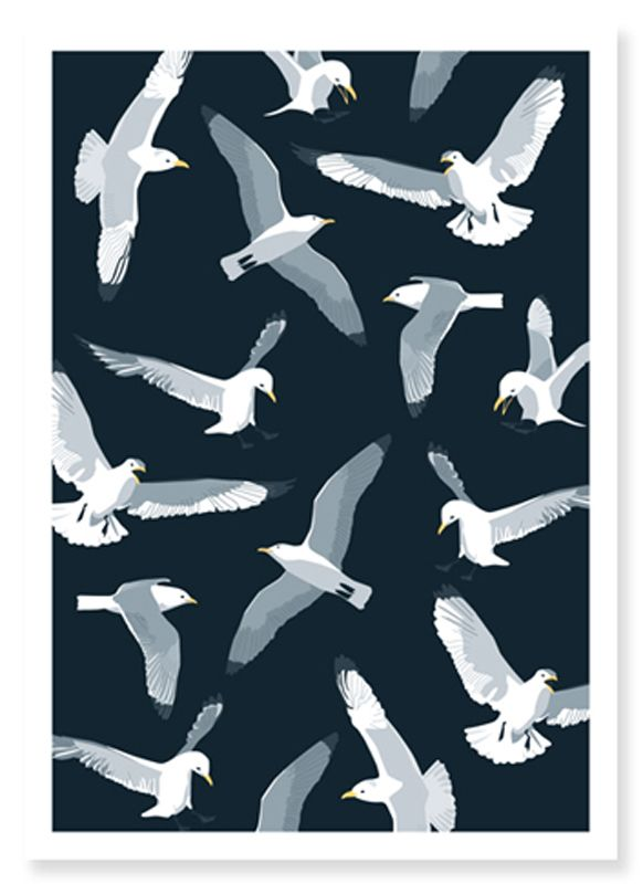 I don't know where my fascination with seagulls came from...maybe the love of the ocean?     Seagull Card