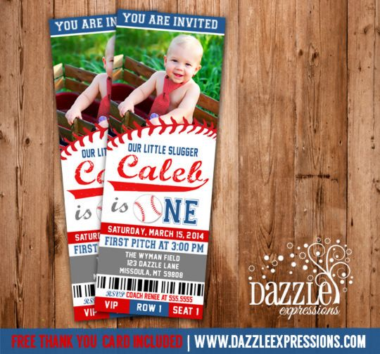 Printable Baseball Ticket Birthday Invitation – Sports Ticket Invitation Template Free