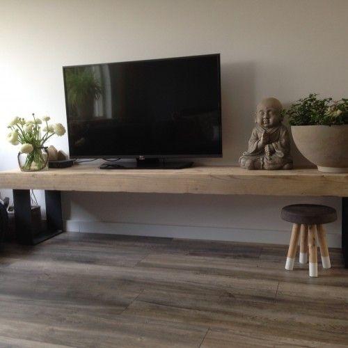 Nieuwe houten meubels op maat waaronder houten tafels en houten tv meubel decoratie - Muur plank onder tv ...