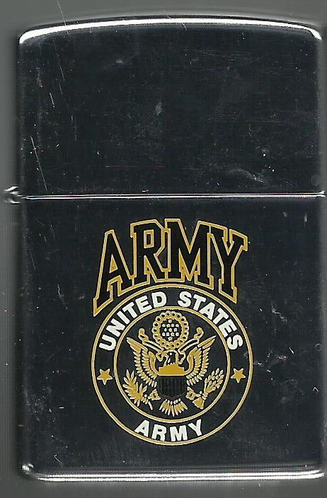 USA UNITED STATES ARMY LOGO MILITARY ZIPPO CIGARETTE LIGHTER Price: US $19.95 Buy It Now