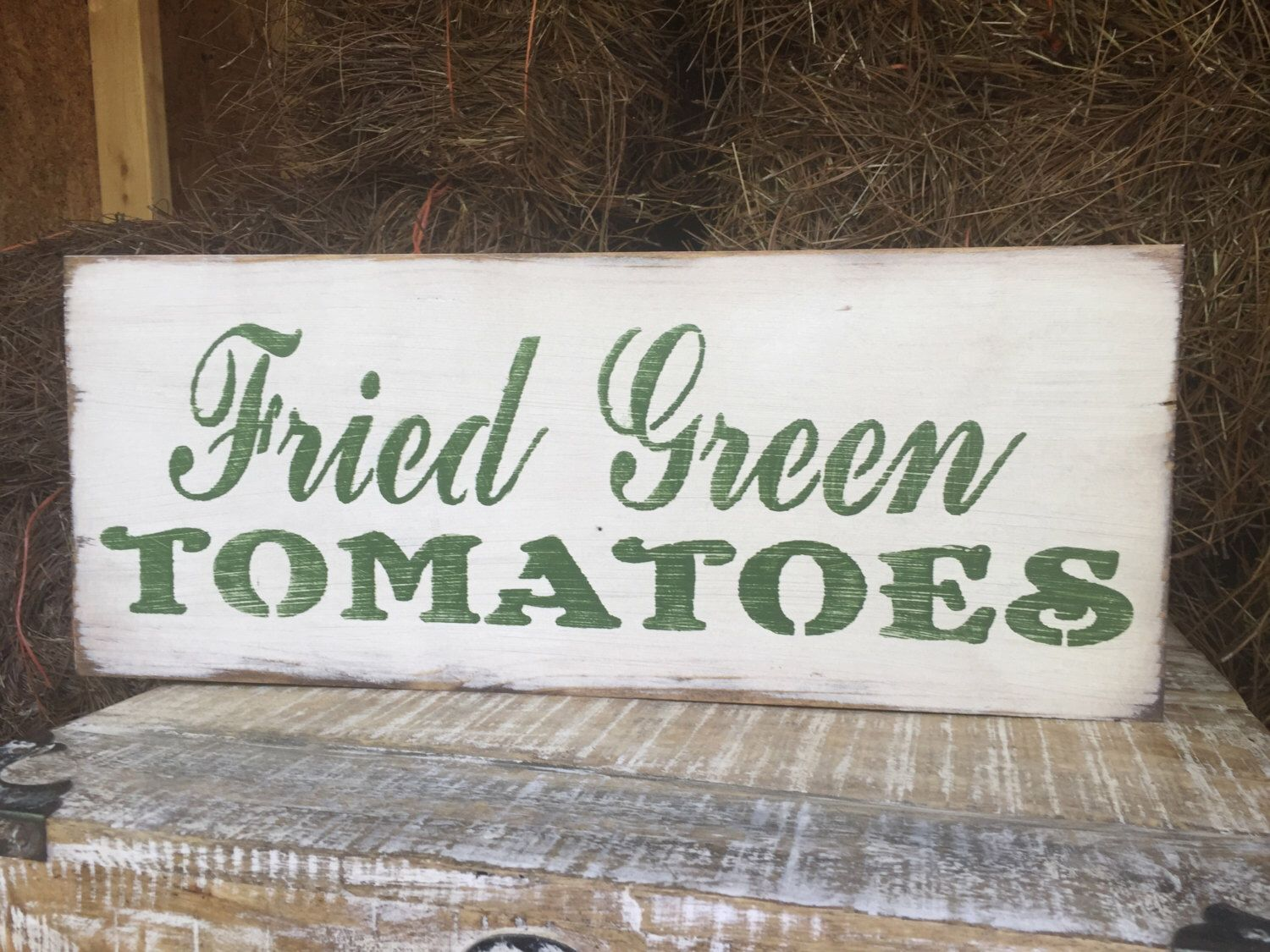 Fried green tomatoes sign southern wall decor country home art fried green tomatoes sign southern wall decor country home art southern kitchen sign amipublicfo Images