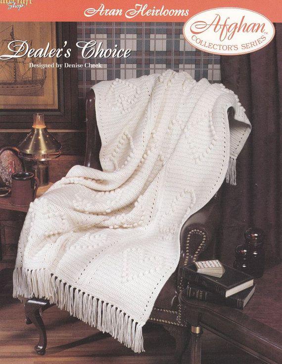 Aran Afghan Crochet Pattern Dealer\'s Choice Aran Heirloom | Aran ...