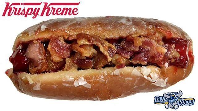Meet the Krispy Kreme Donut Dog, the new ballpark creation from the Wilmington Blue Rocks
