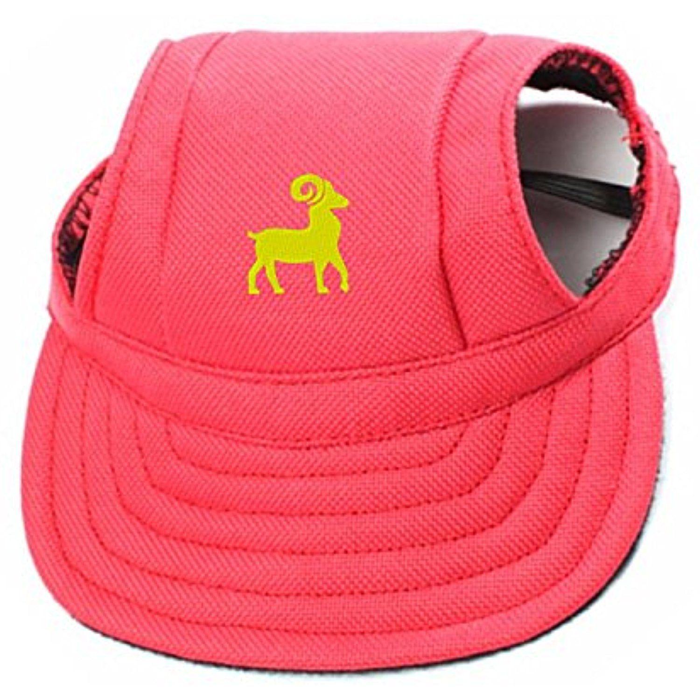 Pet dog canvas hat aries zodiac symbol embroidered sports baseball pet dog canvas hat aries zodiac symbol embroidered sports baseball cap with ear holes for small biocorpaavc
