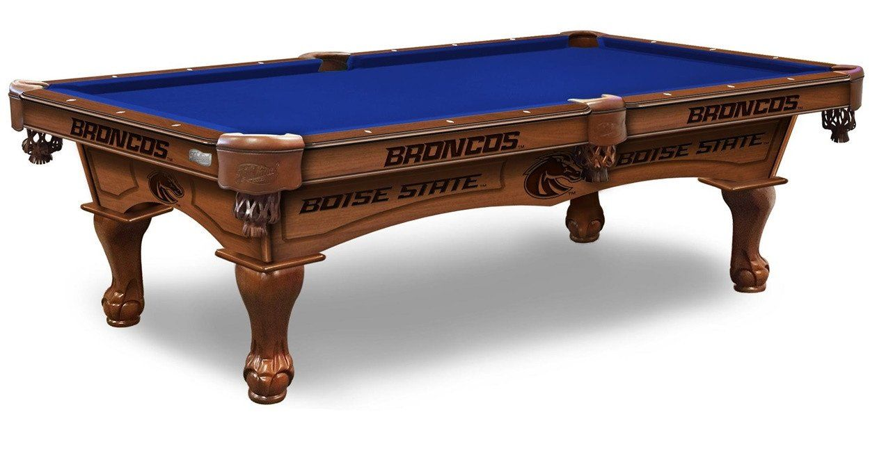 Boise State Broncos Pool Table With Plain Cloth Comes In An 8 Foot Length.
