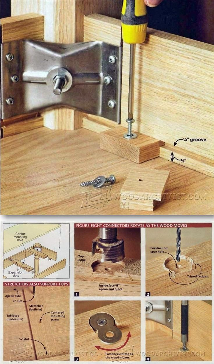 Ways To Fasten Table Top Woodworking Tips And Techniques