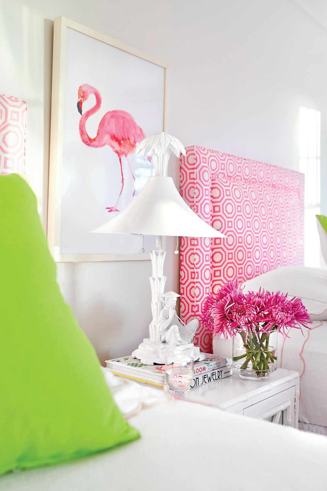 Preppy Florida Beach House | Pink Green White Color Palette ...