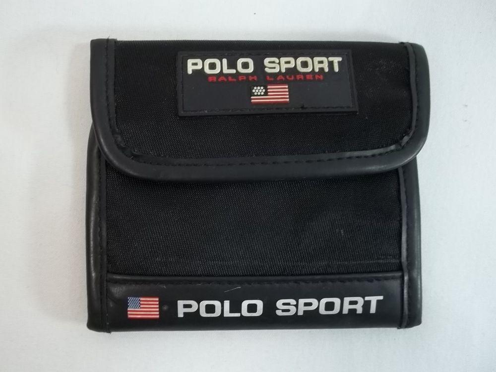 2f0829fa Polo Sport Ralph Lauren Wallet Vintage Black Bi Fold Nylon Flag  #PoloRalphLauren #Bifold