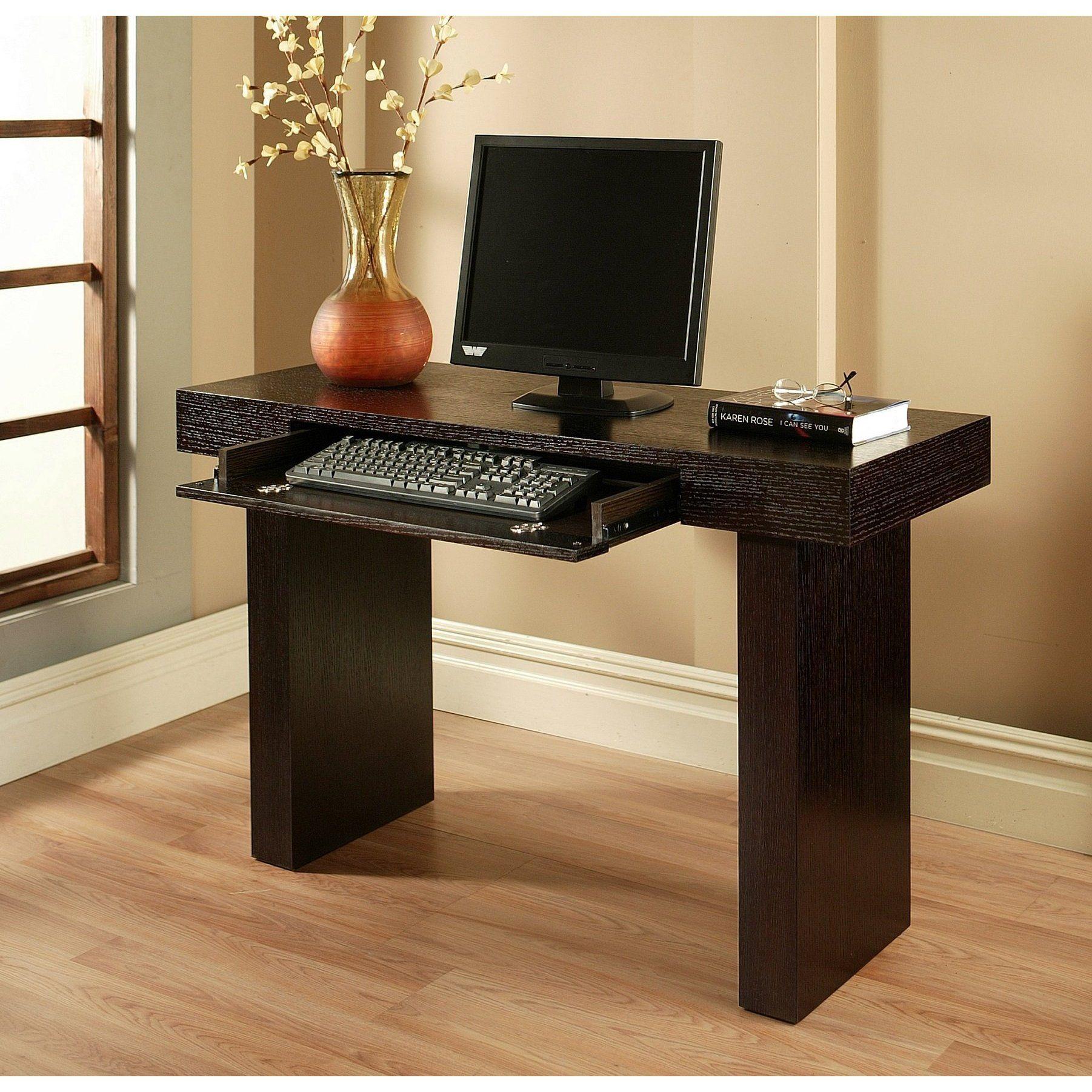 Monroe Espresso Solid Hardwood Computer Desk W Panel Leg Solid Hardwood Espresso Finish Computer Desk Computer Desk Design Diy Computer Desk Computer Desk
