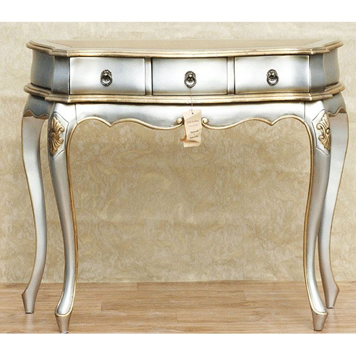 bedroom furniture u203a bedroom vanity u203a silver gold console