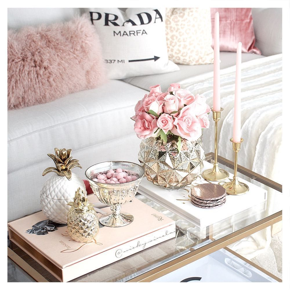 We Got All Your Coffee Table Needs Covered We Re Clearing Our Inventory Out And Making Way For Our Fall Stuff So Pink Living Room Decor Glam Living Room