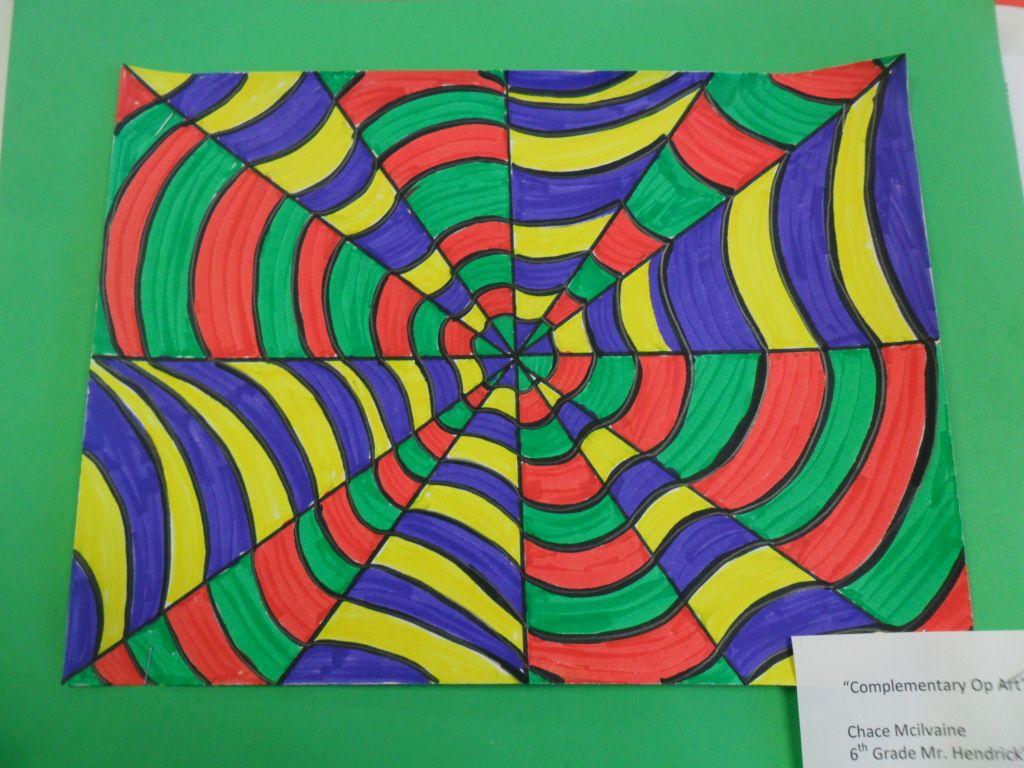 2nd Grade Op Art