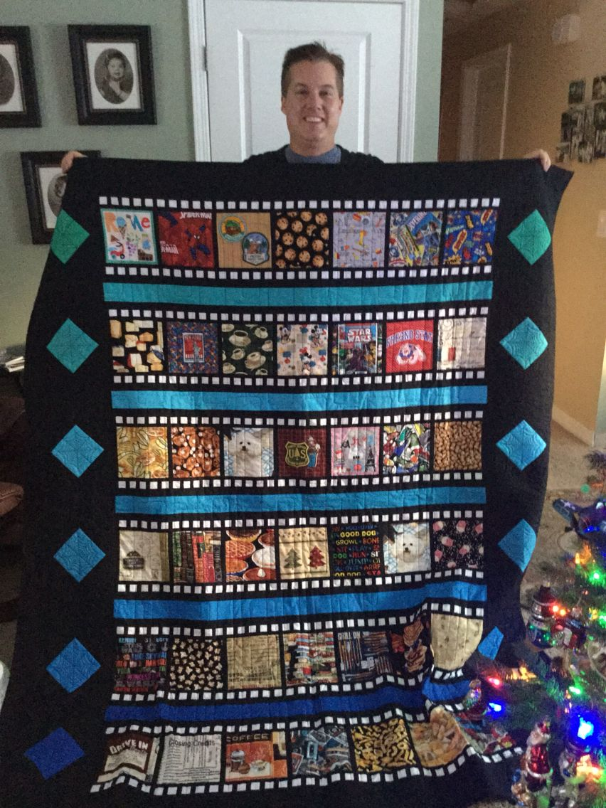 Scrappy I Spy Film Strip Movie Themed Quilt For My New