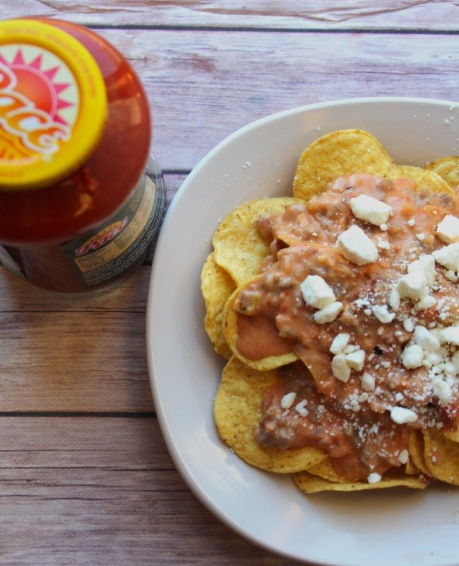 Spicy Sausage Queso Nachos to #KickUpTheFlavor #GameDayRecipes #Nachos #Food #EasyRecipes