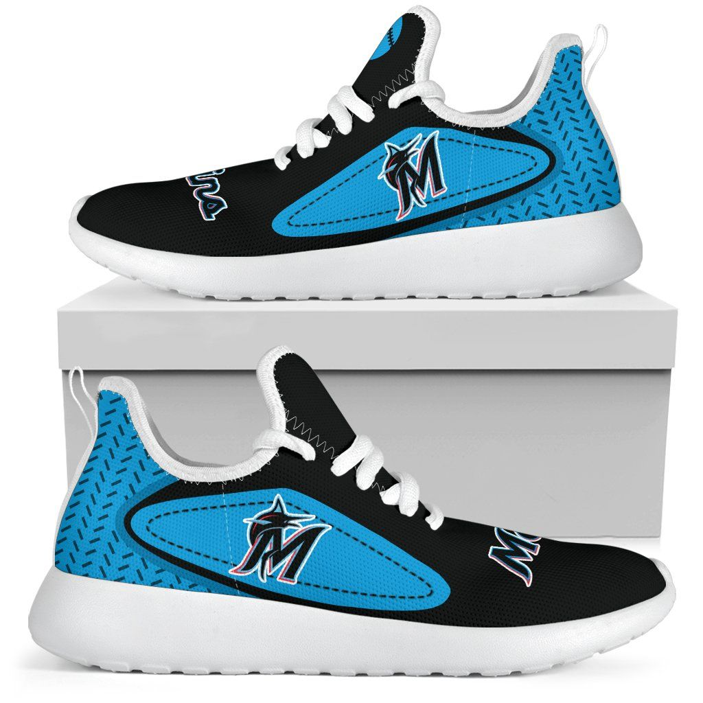 timeless design 0c4b3 973a6 Legend React Miami Marlins Mesh Knit Sneakers | Miami ...