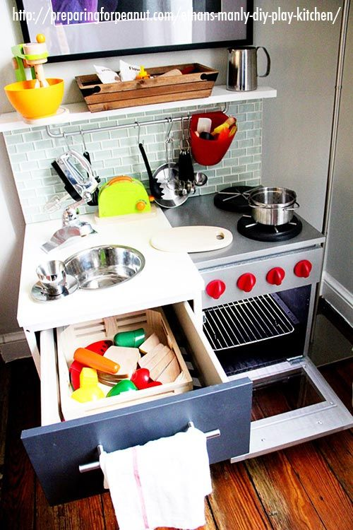 How to make a play kitchen set home design ideas and pictures 18 diy play kitchens so amazing youu0027ll want to cook in them yourself solutioingenieria Image collections