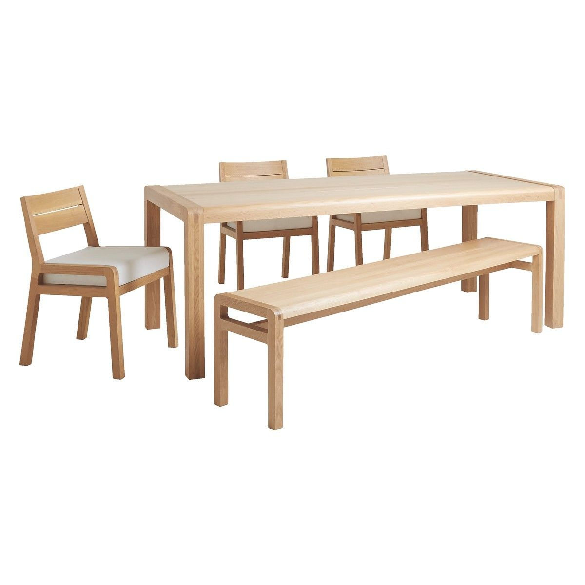 Radius 6 seater dining set with radius oak table radius oak bench radius 6 seater dining set with radius oak table radius oak bench and 3 radius geotapseo Gallery