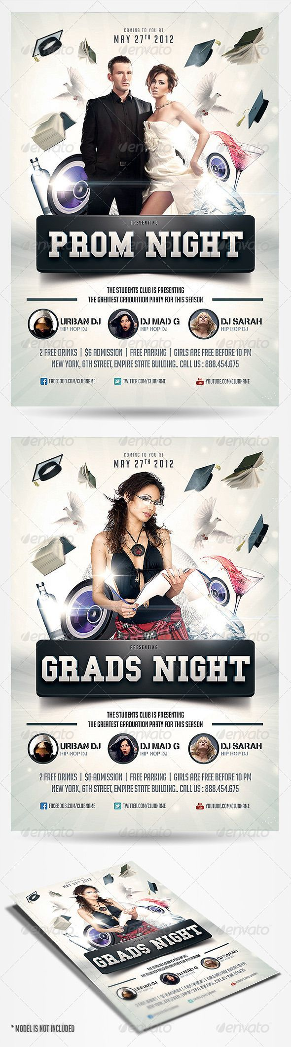 graduation prom flyer fonts texts and photoshop graduation prom flyer graphicriver item for