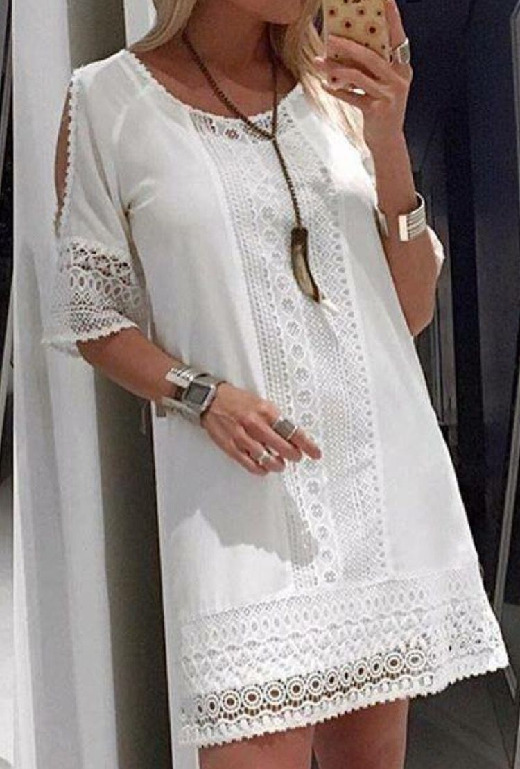 lovely vestido blanco de noche