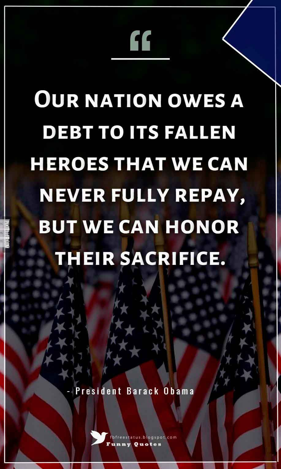 Memorial Day Quotes Alluring Memorial Day Quotes & Sayings Images Pictures  Pinterest  Barack .