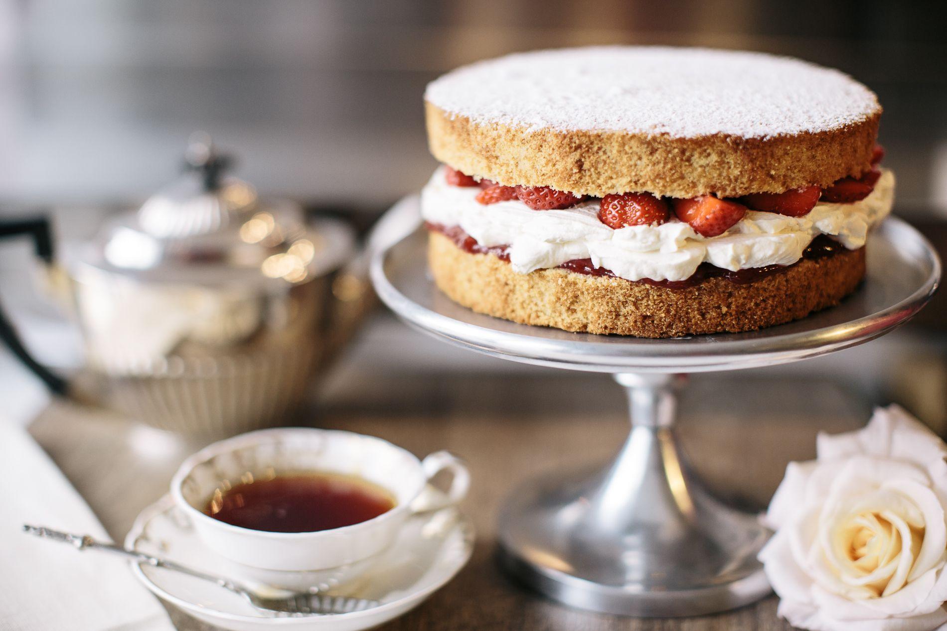 Victoria Sponge cake from Melissa tea room & cakes