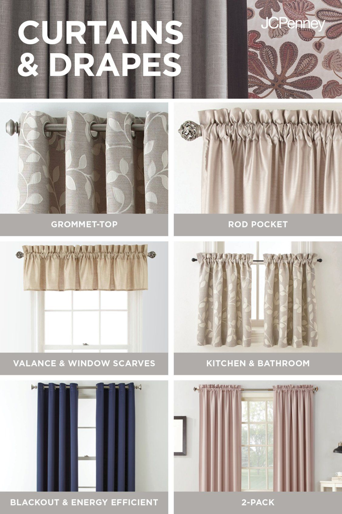 Jcpenney Is The Window Authority Curtains And Drapes Are An Easy