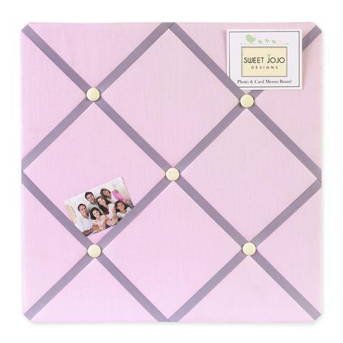 Light Pink  Purple Fabric Memo Board  French NoticePhoto Ribbon