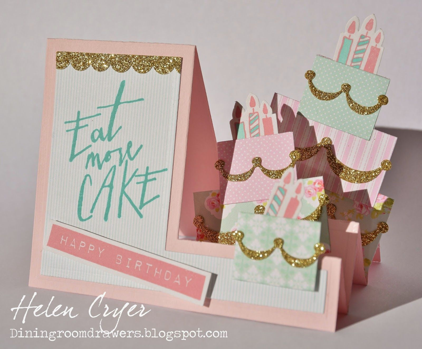 Sizzix Eat More Cake Step Up Birthday Card The Dining Room