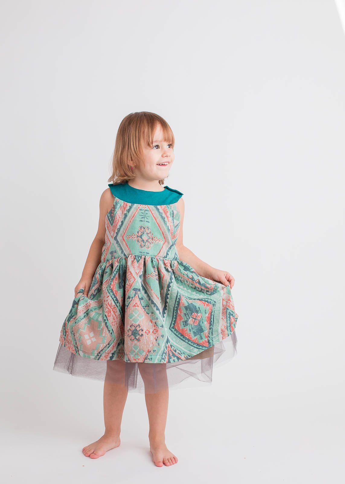 Pretty Party Dress PDF Sewing Pattern - Girls Party Dress Pattern ...