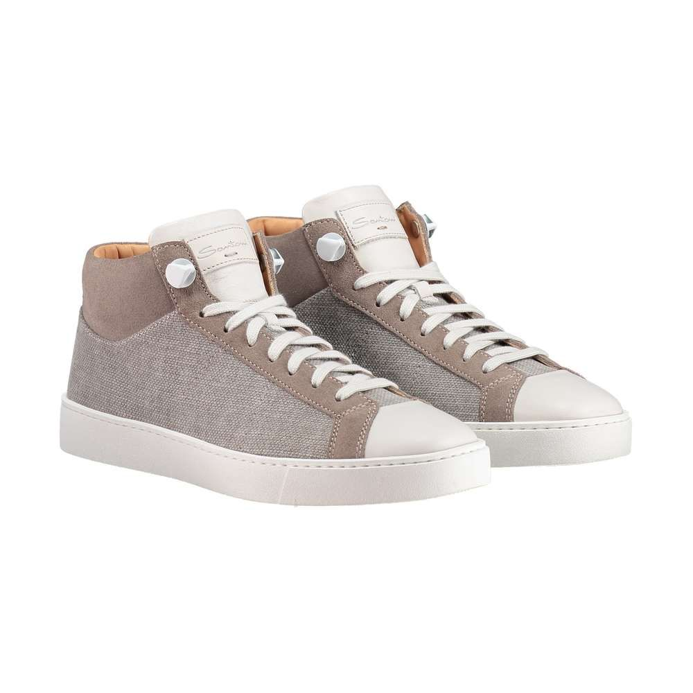 SANTONI - Hightop Sneaker ► Die Hightop Sneaker von SANTONI überzeugen mit ihrer sportlichen Schlichtheit. Dank Materialmix und Fußbett aus reinem Leder ein hochwertiger Schuh, welcher sich vielseitig kombinieren lässt.